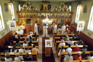 Orosz Atanáz megyéspüspök Sajóvámoson